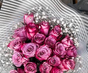 Purple Roses Bouquet - $15