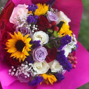 Fall Color Splash Bouquet - $20
